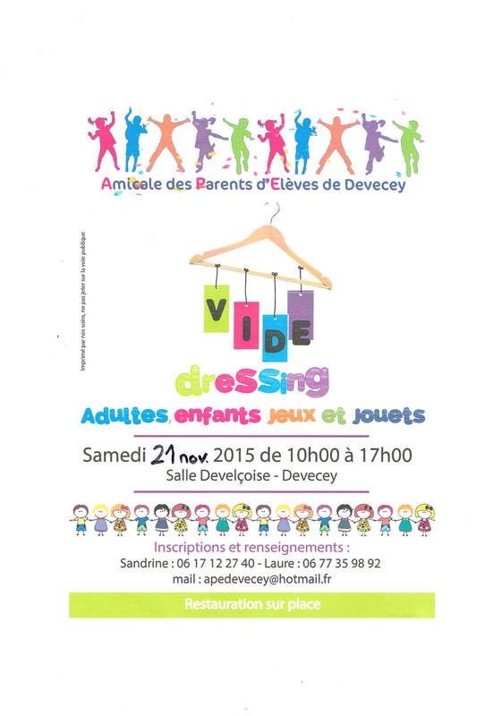 vide dressing adulte enfants jeux et jouets 21 novembre 2015 devecey 25870. Black Bedroom Furniture Sets. Home Design Ideas